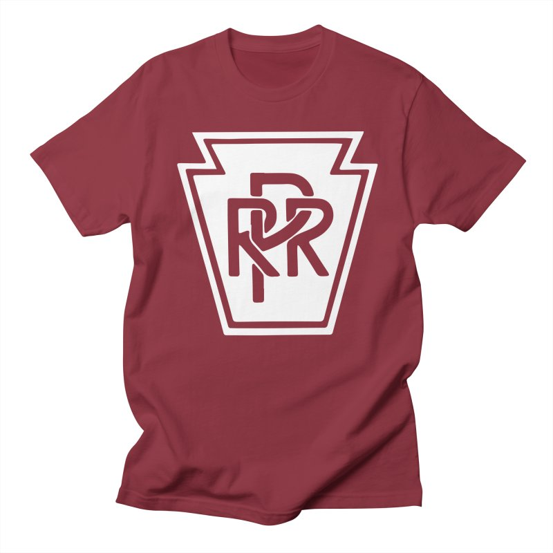 Pennsylvania Railroad in Men's Regular T-Shirt Scarlet Red by Freight Culture Tees