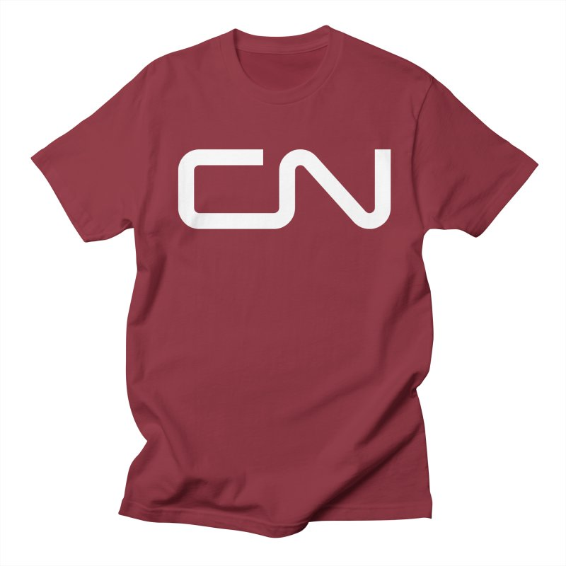 Canadian National in Men's Regular T-Shirt Scarlet Red by Freight Culture Tees
