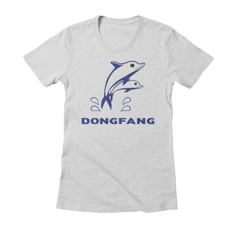 Dong Fang Women's Fitted T-Shirt by Freight Culture Tees