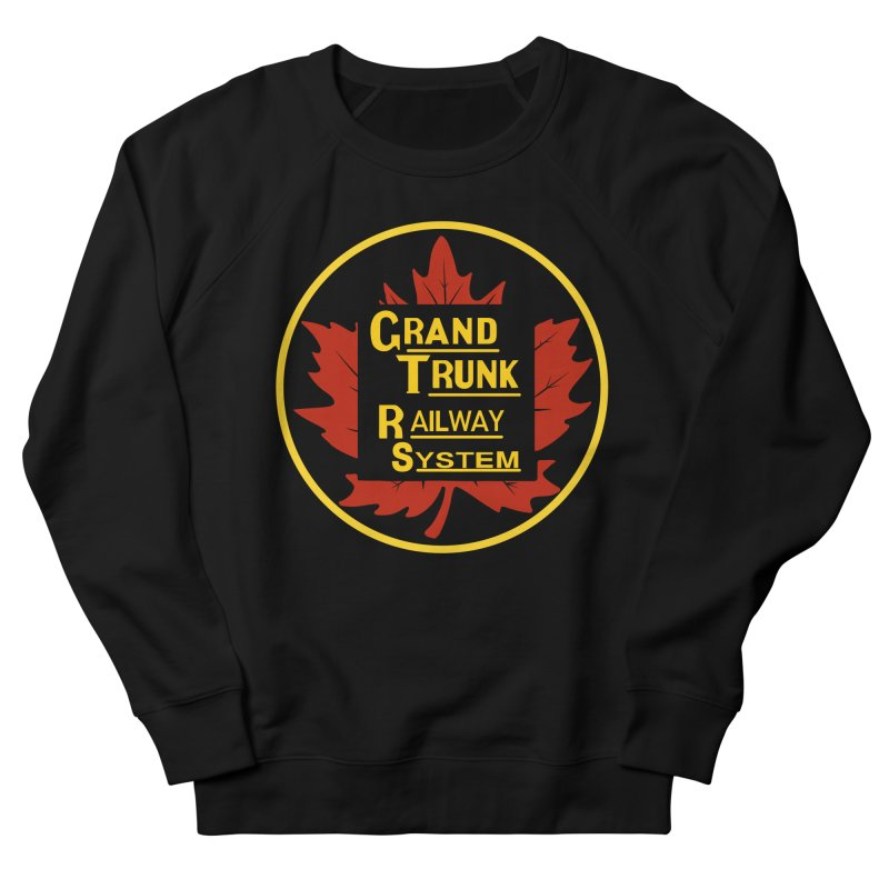 Grand Trunk Railway Men's French Terry Sweatshirt by Freight Culture Tees