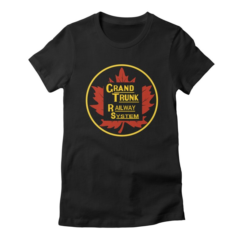 Grand Trunk Railway Women's Fitted T-Shirt by Freight Culture Tees