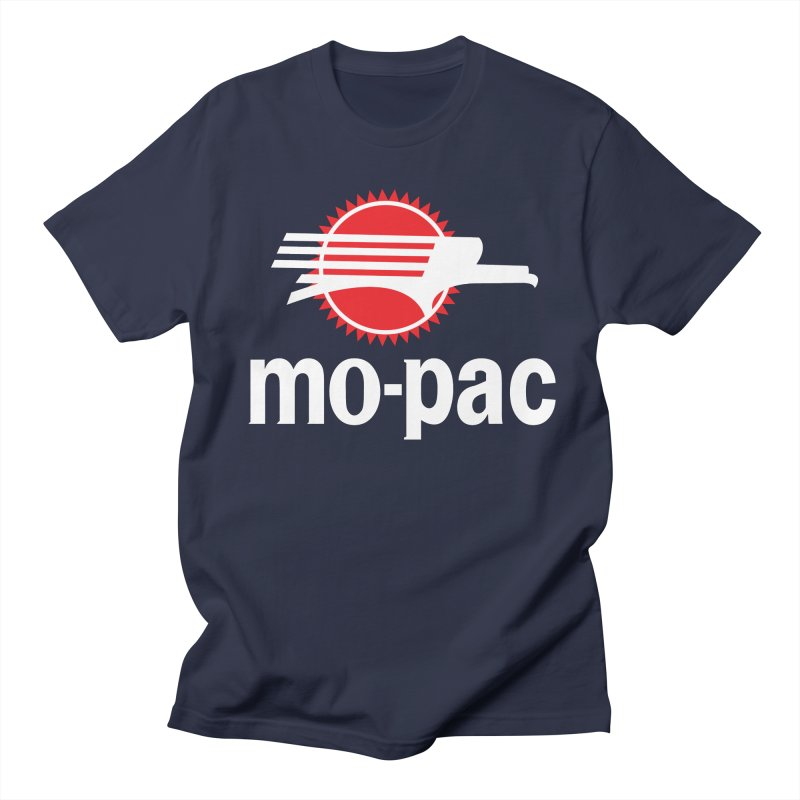 Mopac in Men's Regular T-Shirt Navy by Freight Culture Tees