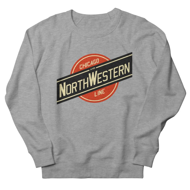 Chicago and Northwestern Men's French Terry Sweatshirt by Freight Culture Tees