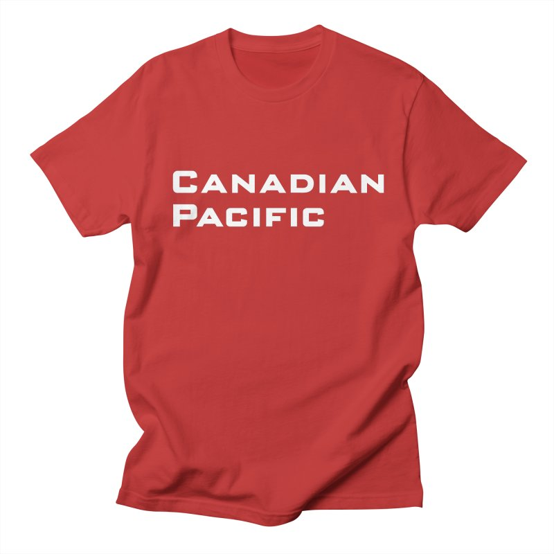 Canadian Pacific in Men's Regular T-Shirt Red by Freight Culture Tees