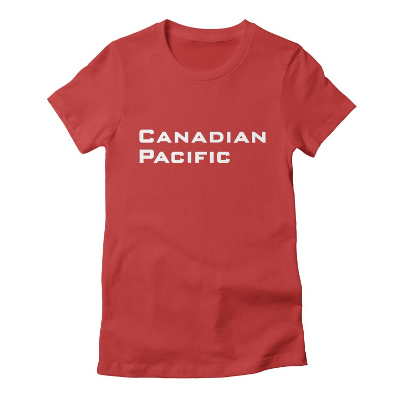 Canadian Pacific Women's Fitted T-Shirt by Freight Culture Tees