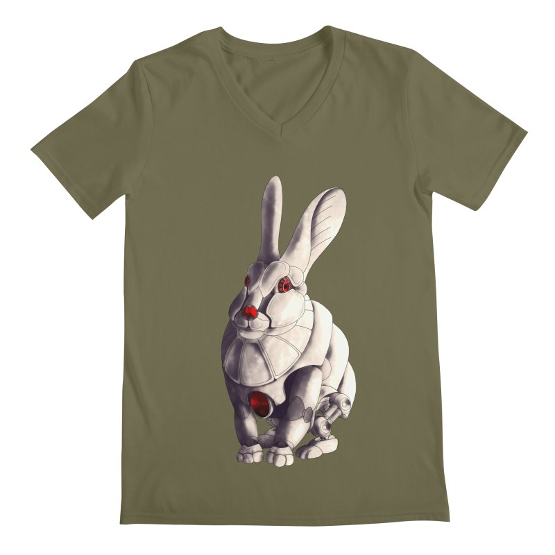 Weiss Hase Uhr Men's Regular V-Neck by Frenchi French