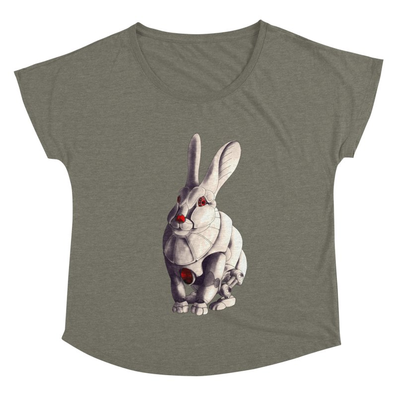 Weiss Hase Uhr Women's Dolman Scoop Neck by Frenchi French