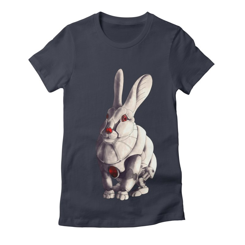 Weiss Hase Uhr Women's Fitted T-Shirt by Frenchi French