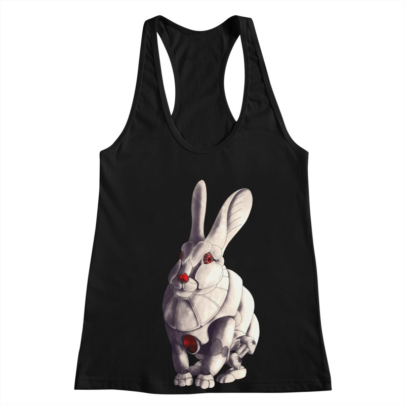 Weiss Hase Uhr Women's Racerback Tank by Frenchi French