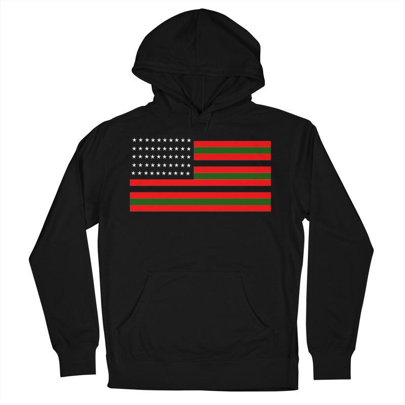 Black N America Men's Pullover Hoody by freshkreative's Artist Shop