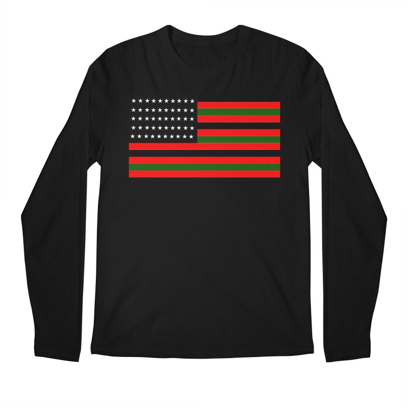 Black N America Men's Longsleeve T-Shirt by freshkreative's Artist Shop