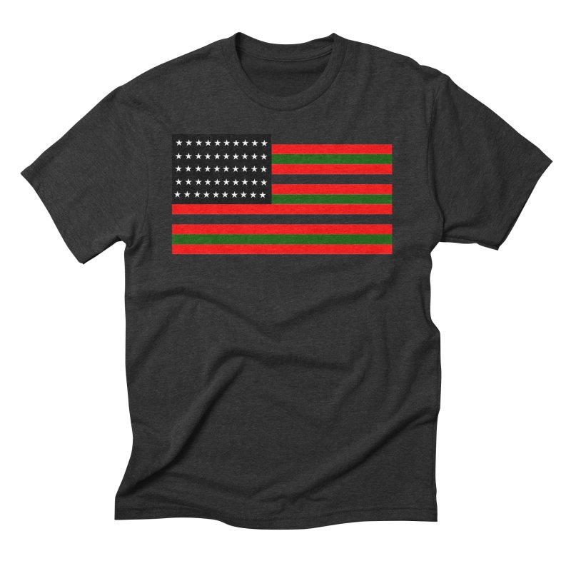 Black N America Men's Triblend T-Shirt by freshkreative's Artist Shop