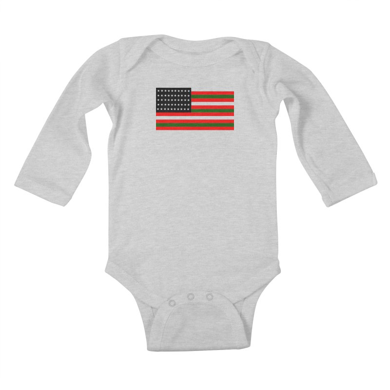 Black N America Kids Baby Longsleeve Bodysuit by freshkreative's Artist Shop