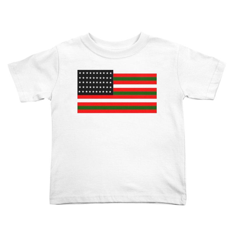 Black N America Kids Toddler T-Shirt by freshkreative's Artist Shop