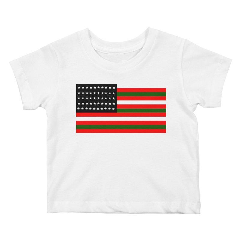 Black N America Kids Baby T-Shirt by freshkreative's Artist Shop