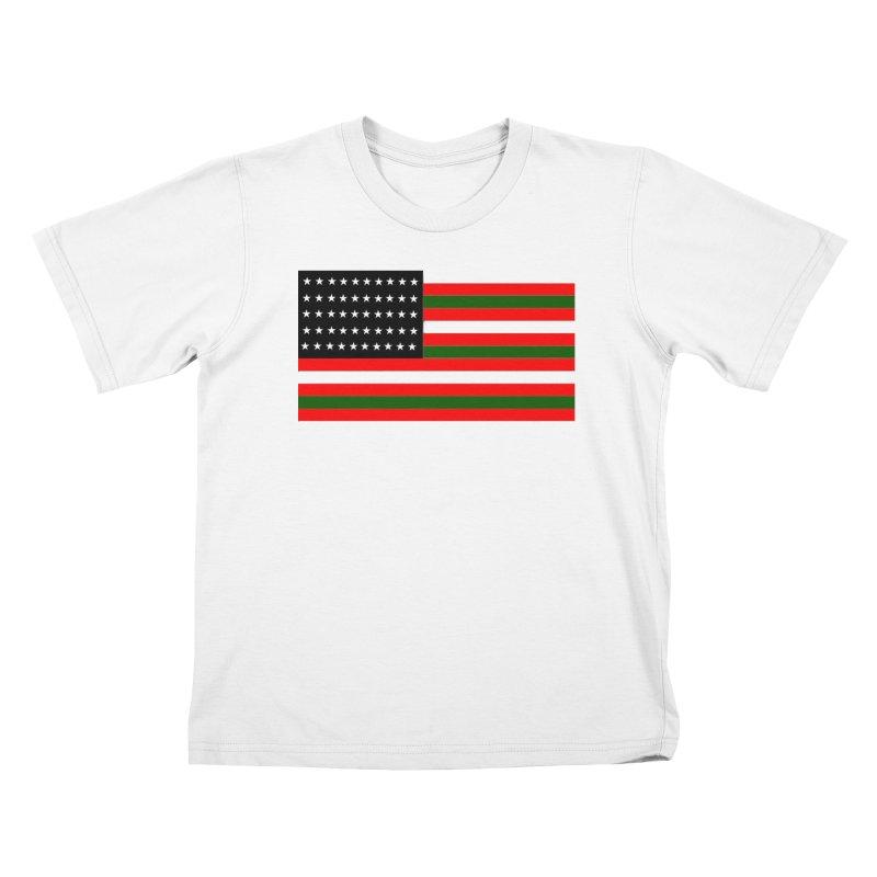 Black N America Kids T-Shirt by freshkreative's Artist Shop