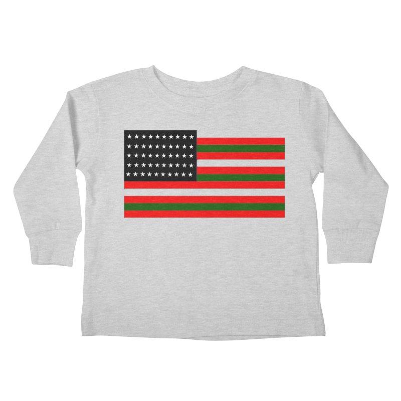 Black N America Kids Toddler Longsleeve T-Shirt by freshkreative's Artist Shop