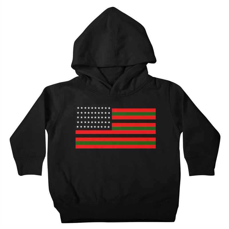 Black N America Kids Toddler Pullover Hoody by freshkreative's Artist Shop