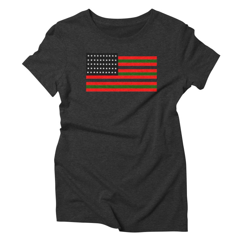 Black N America Women's Triblend T-Shirt by freshkreative's Artist Shop