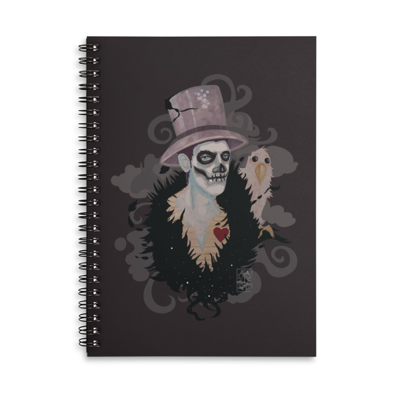 The Baron Accessories Lined Spiral Notebook by freshoteric's Artist Shop