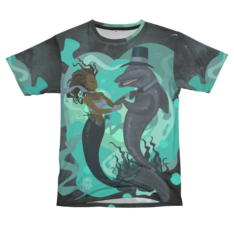 A Mermaid's Dance Men's French Terry T-Shirt Cut & Sew by freshoteric's Artist Shop