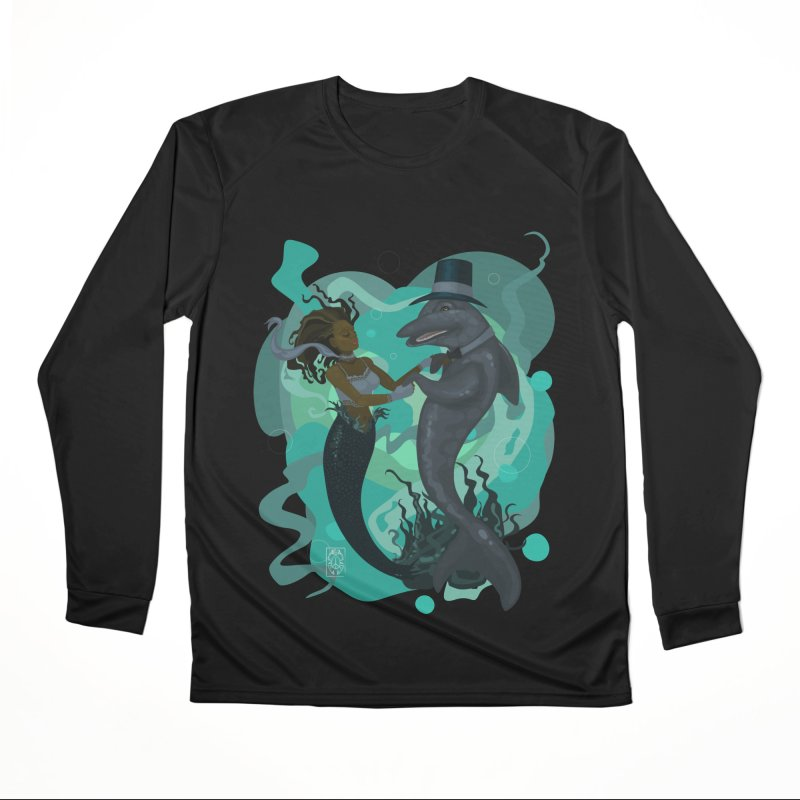 A Mermaid's Dance Men's Performance Longsleeve T-Shirt by freshoteric's Artist Shop