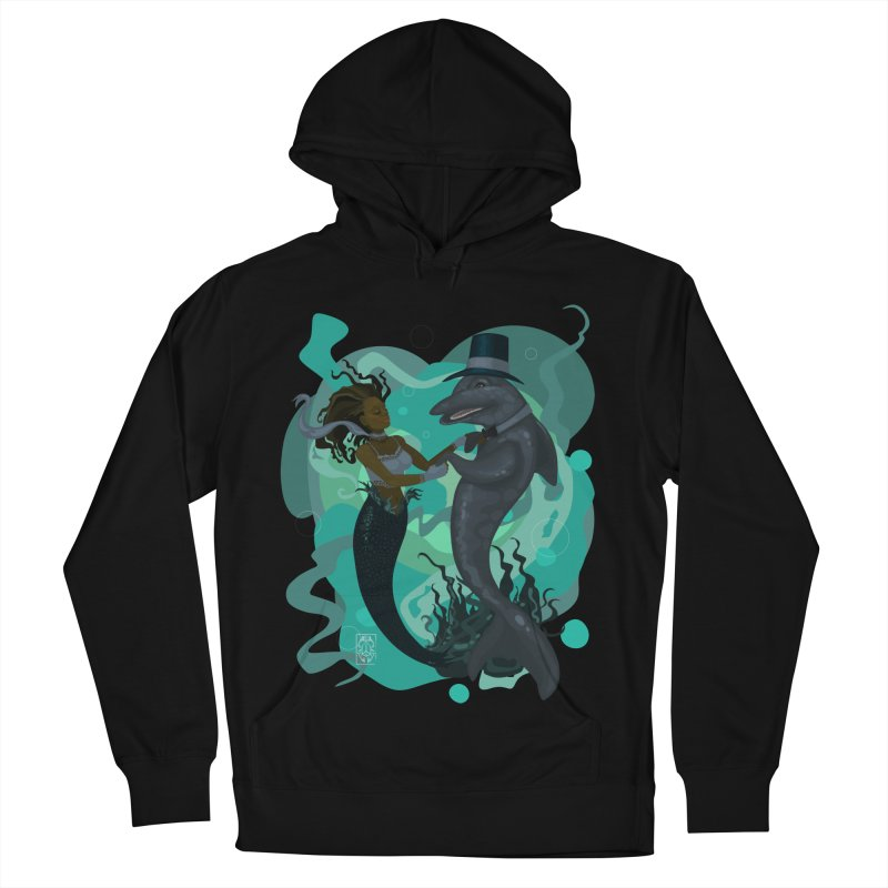A Mermaid's Dance Men's French Terry Pullover Hoody by freshoteric's Artist Shop