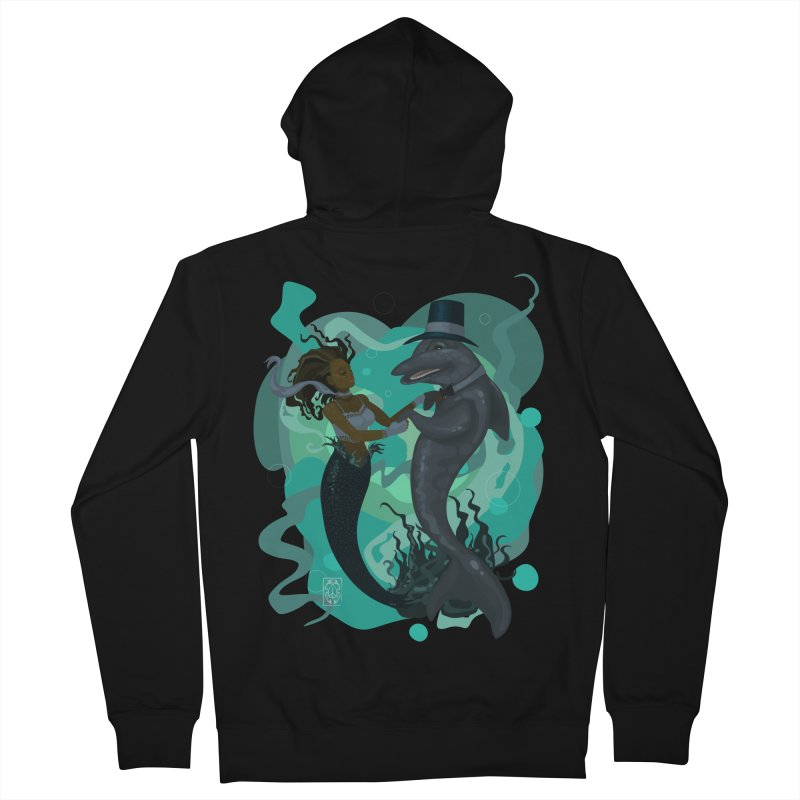 A Mermaid's Dance Men's French Terry Zip-Up Hoody by freshoteric's Artist Shop
