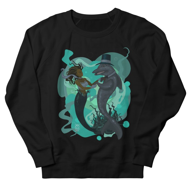 A Mermaid's Dance Men's French Terry Sweatshirt by freshoteric's Artist Shop