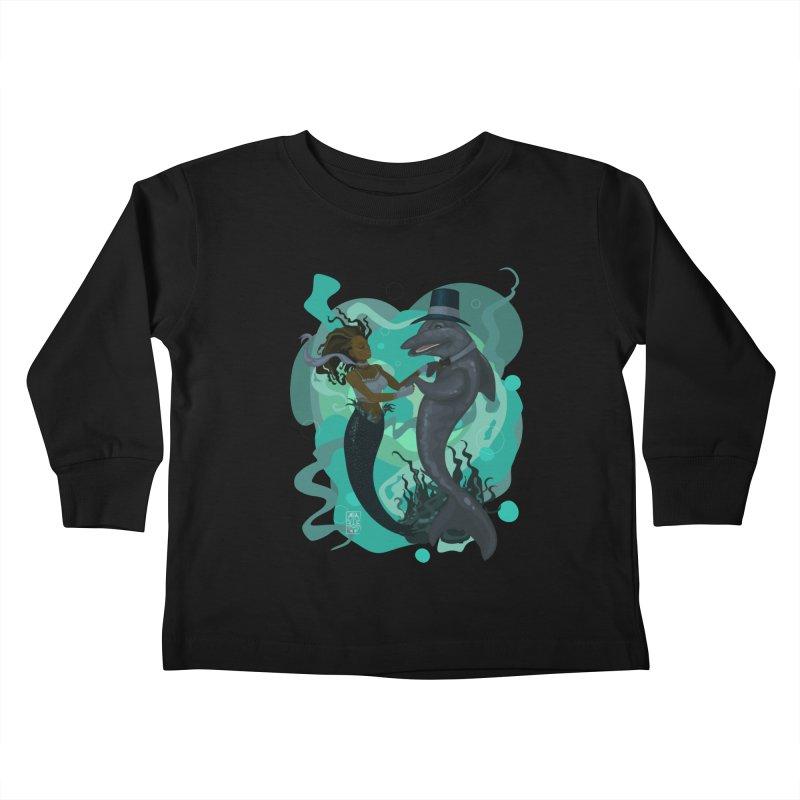 A Mermaid's Dance Kids Toddler Longsleeve T-Shirt by freshoteric's Artist Shop