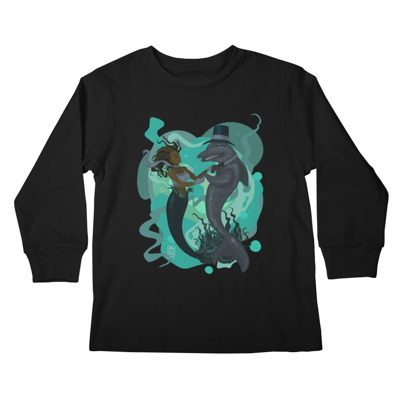 A Mermaid's Dance Kids Longsleeve T-Shirt by freshoteric's Artist Shop