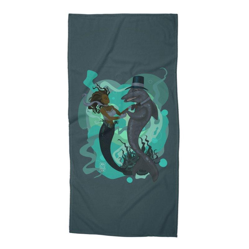 A Mermaid's Dance Accessories Beach Towel by freshoteric's Artist Shop