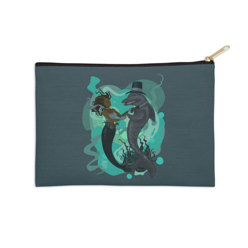 A Mermaid's Dance Accessories Zip Pouch by freshoteric's Artist Shop
