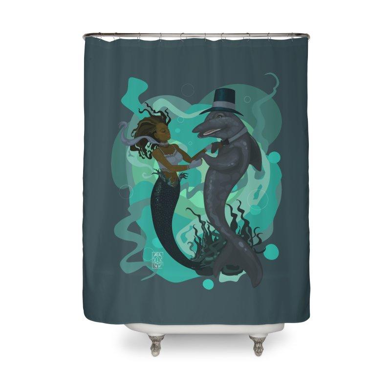 A Mermaid's Dance Home Shower Curtain by freshoteric's Artist Shop