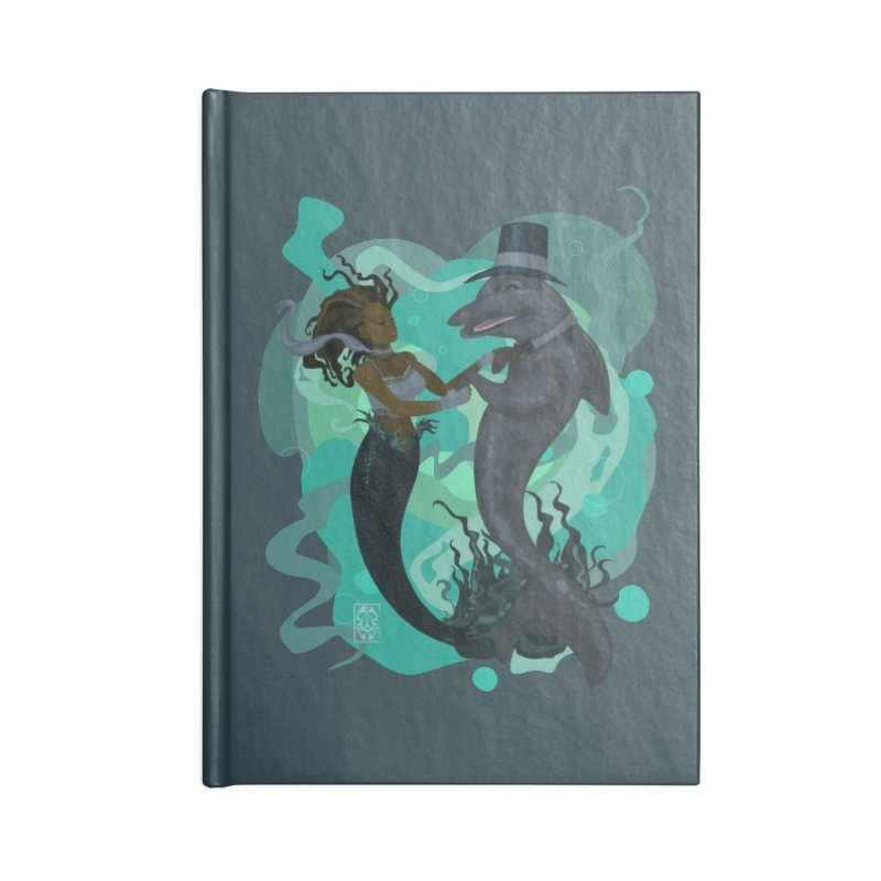 A Mermaid's Dance Accessories Blank Journal Notebook by freshoteric's Artist Shop