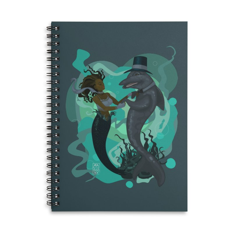 A Mermaid's Dance Accessories Lined Spiral Notebook by freshoteric's Artist Shop