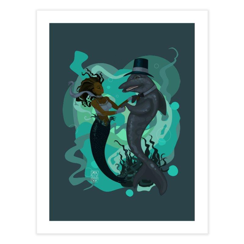 A Mermaid's Dance Home Fine Art Print by freshoteric's Artist Shop