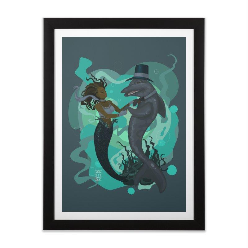A Mermaid's Dance Home Framed Fine Art Print by freshoteric's Artist Shop