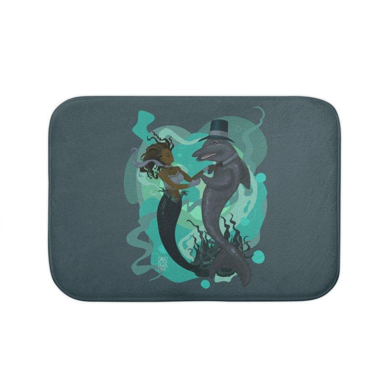 A Mermaid's Dance Home Bath Mat by freshoteric's Artist Shop