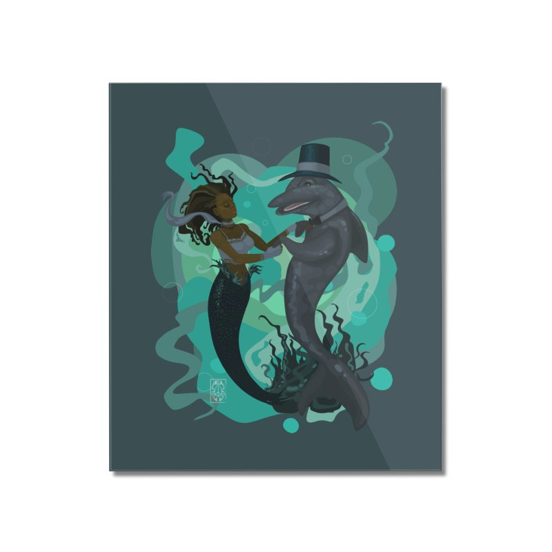 A Mermaid's Dance Home Mounted Acrylic Print by freshoteric's Artist Shop