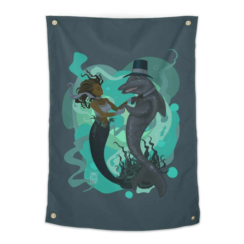 A Mermaid's Dance Home Tapestry by freshoteric's Artist Shop