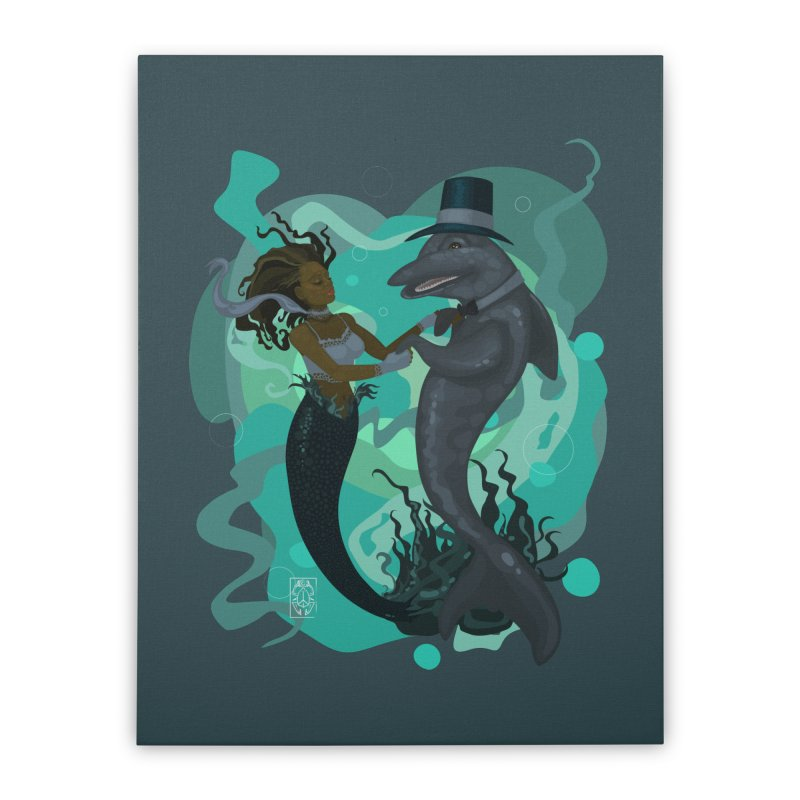 A Mermaid's Dance Home Stretched Canvas by freshoteric's Artist Shop
