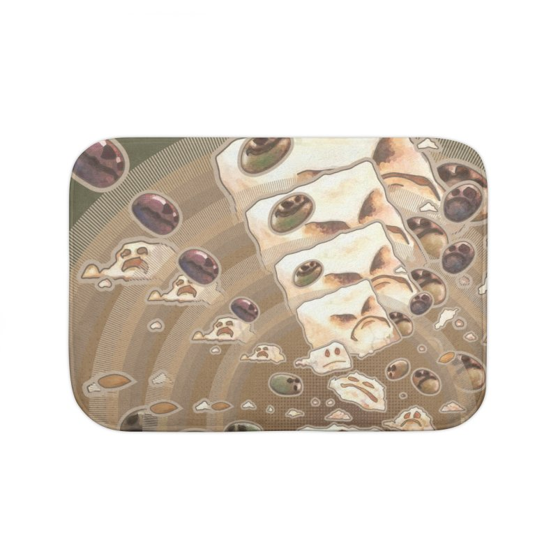 Angry Feta and Olives Home Bath Mat by freshoteric's Artist Shop