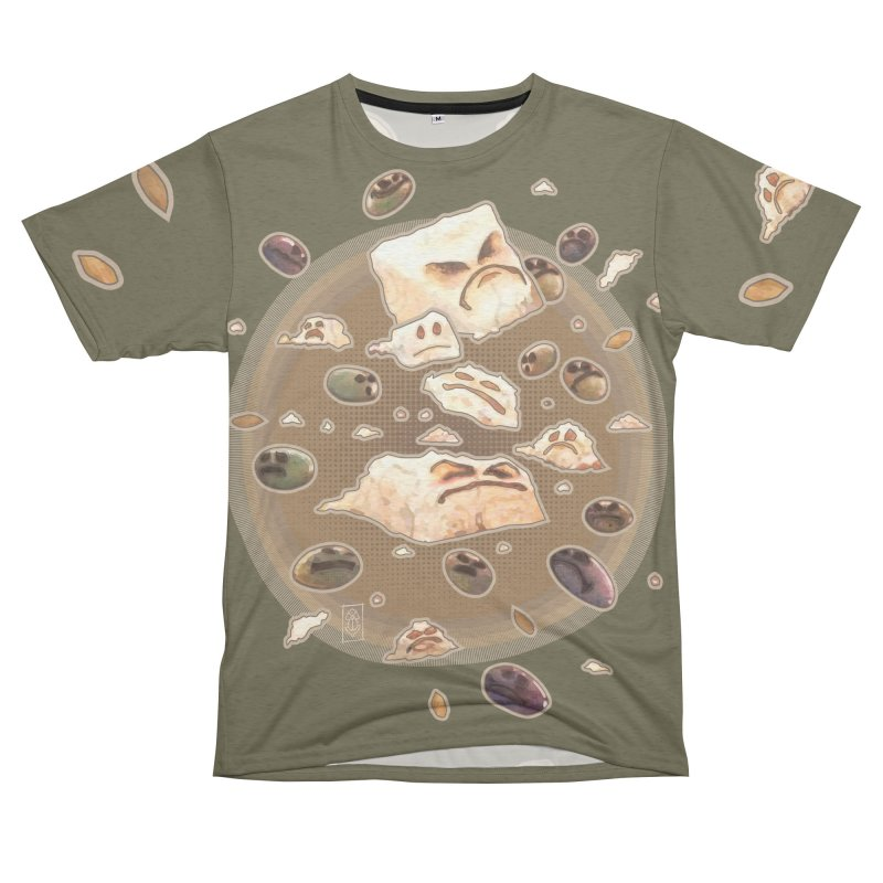Angry Feta and Olives Men's French Terry T-Shirt Cut & Sew by freshoteric's Artist Shop