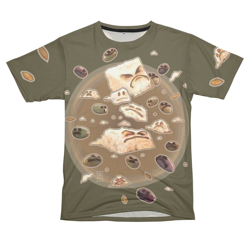 Angry Feta and Olives Men's T-Shirt Cut & Sew by freshoteric's Artist Shop