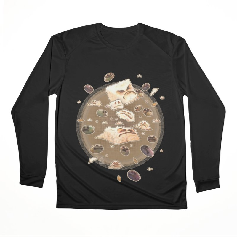 Angry Feta and Olives Women's Performance Unisex Longsleeve T-Shirt by freshoteric's Artist Shop