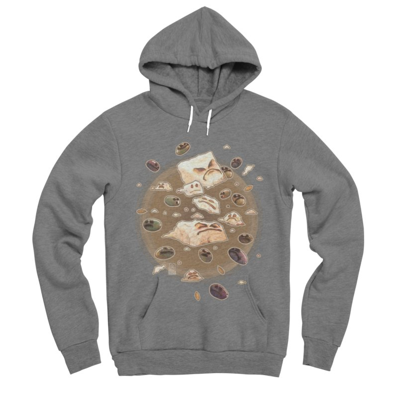 Angry Feta and Olives Men's Sponge Fleece Pullover Hoody by freshoteric's Artist Shop