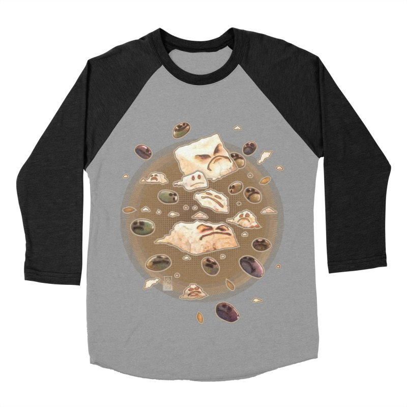 Angry Feta and Olives Women's Baseball Triblend Longsleeve T-Shirt by freshoteric's Artist Shop