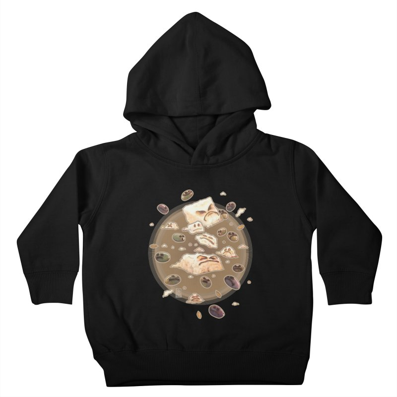 Angry Feta and Olives Kids Toddler Pullover Hoody by freshoteric's Artist Shop