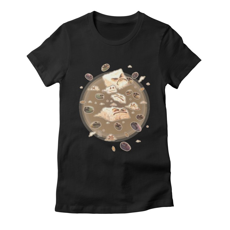 Angry Feta and Olives Women's Fitted T-Shirt by freshoteric's Artist Shop